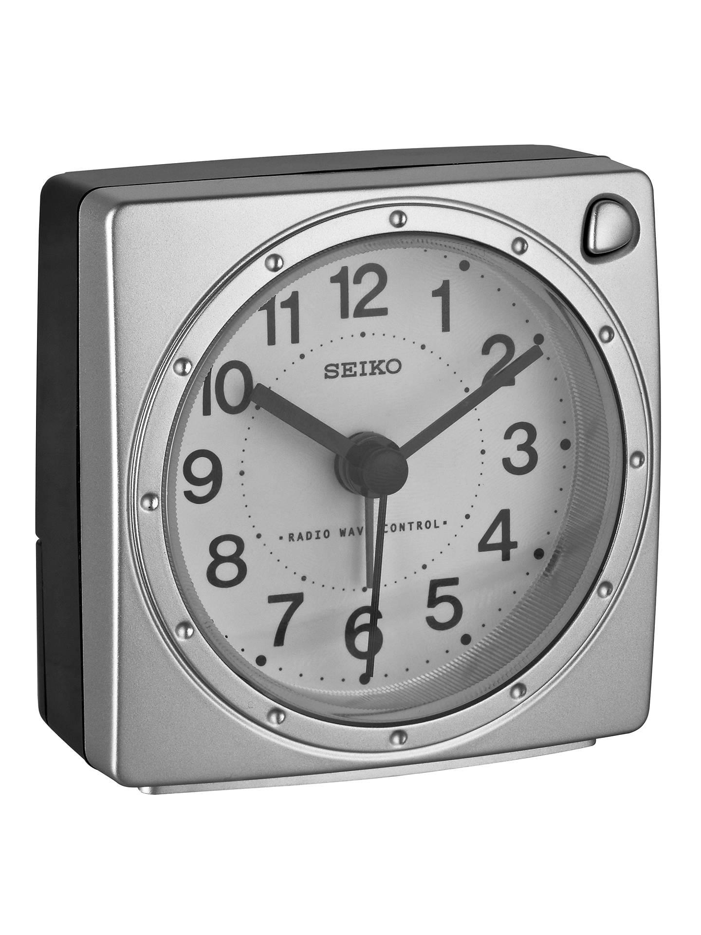 Seiko Radio Controlled Alarm Clock at John Lewis & Partners