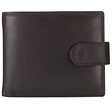 Buy John Lewis Leather Tab Wallet, Brown Online at johnlewis.com