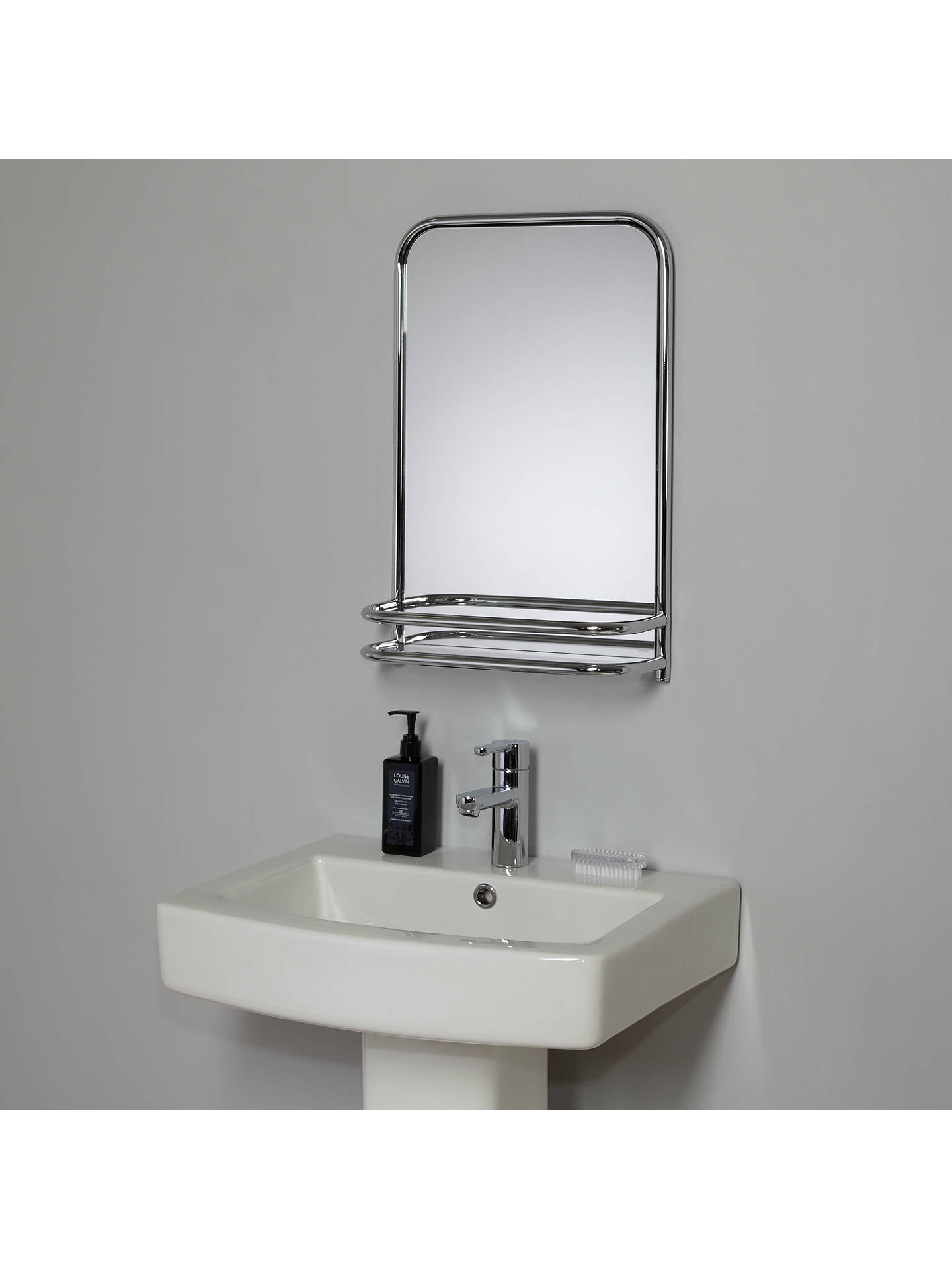 john lewis restoration bathroom wall mirror with shelf at. Black Bedroom Furniture Sets. Home Design Ideas