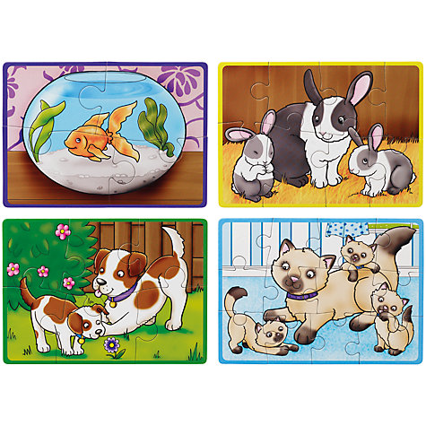 Buy John Lewis My Pets 4-in-a-Box Jigsaw Puzzle, 30 Pieces Online at johnlewis.com