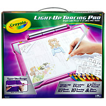 Buy Crayola Light Up Tracing Pad, Pink Online at johnlewis.com