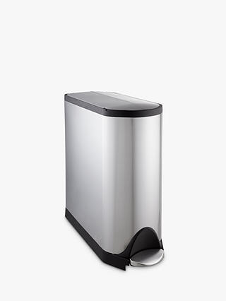Buy simplehuman Butterfly Pedal Bin, Brushed Stainless Steel, 45L Online at johnlewis.com