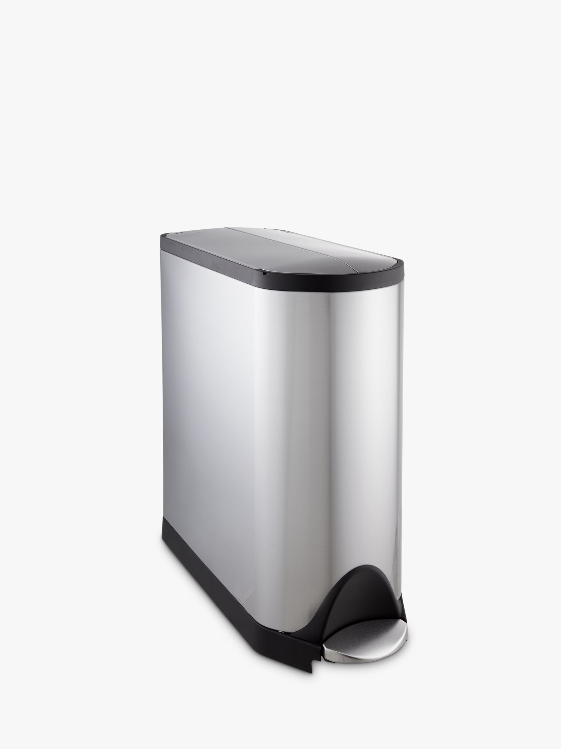 Simplehuman simplehuman Butterfly Pedal Bin, Fingerprint Proof Brushed Stainless Steel, 45L