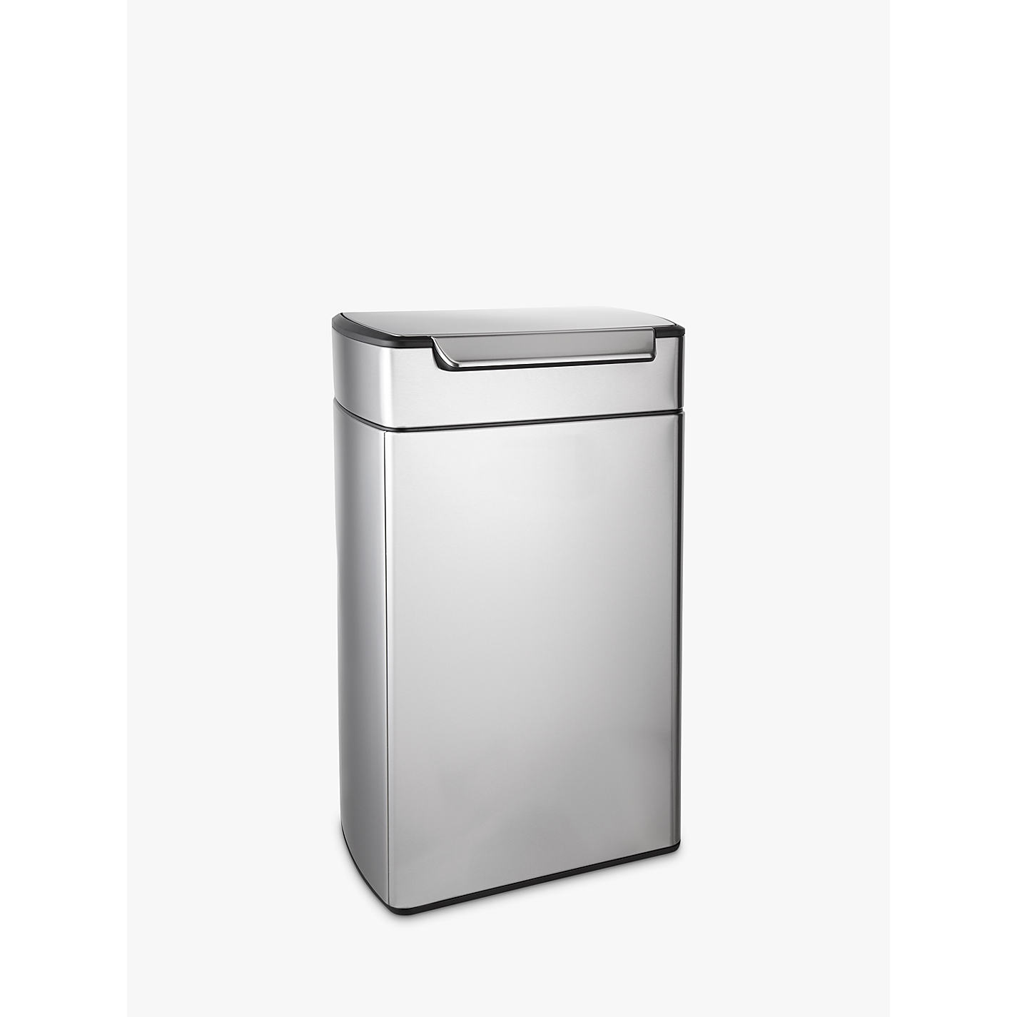White Kitchen Bin brushed & matt steel | kitchen bins | john lewis