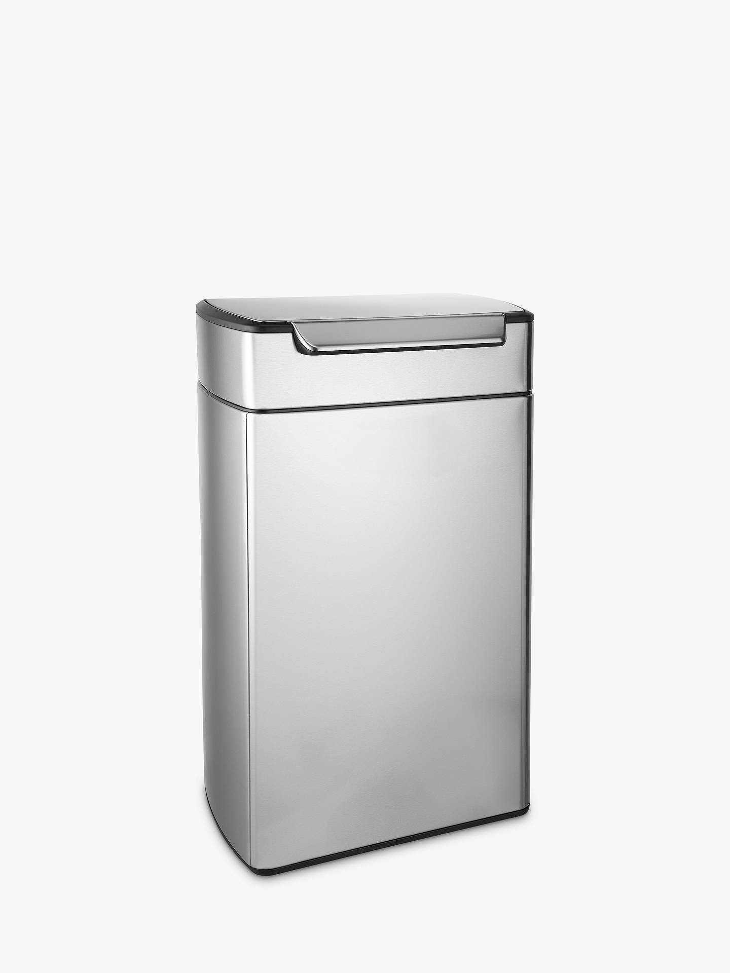 Buysimplehuman Rectangular Touch Bar Bin, Stainless Steel, 40L Online at johnlewis.com