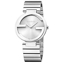 Buy Gucci YA133308 Women's Interlocking G Bracelet Strap Watch, Silver Online at johnlewis.com