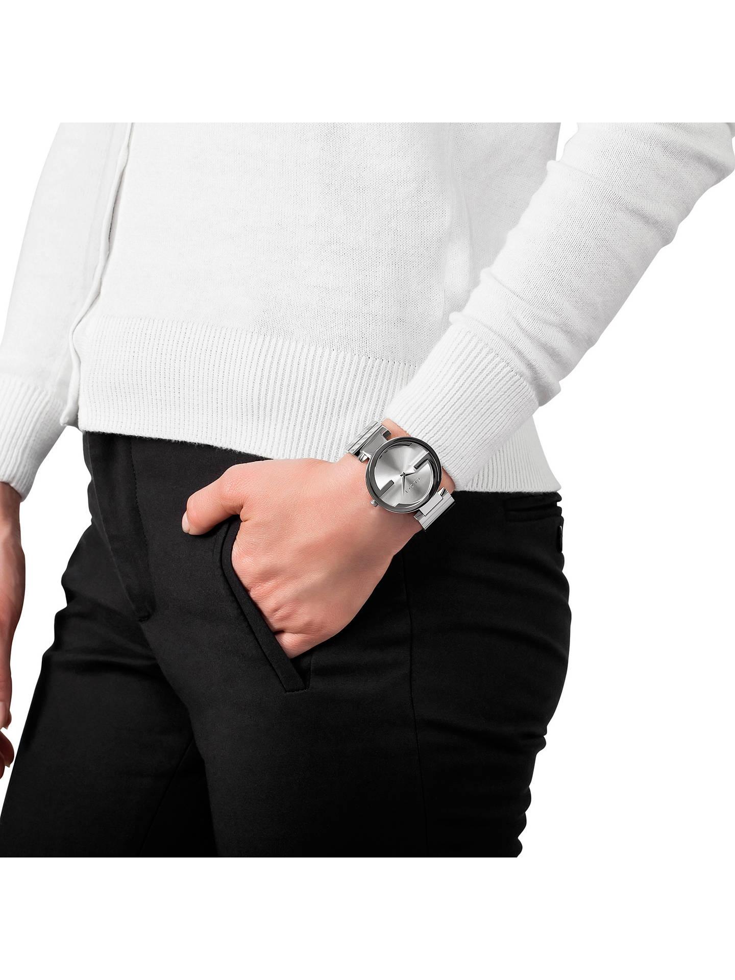5837d7a8d6e ... Buy Gucci YA133308 Women s Interlocking G Bracelet Strap Watch
