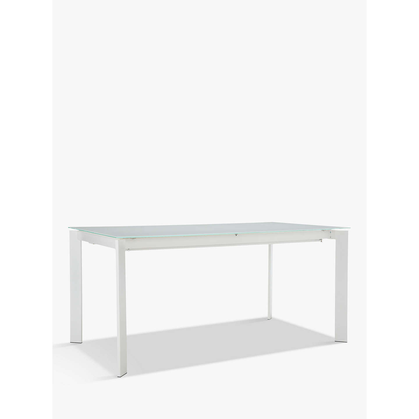 John Lewis Odyssey 6-10 Seater Glass Top Extending Dining