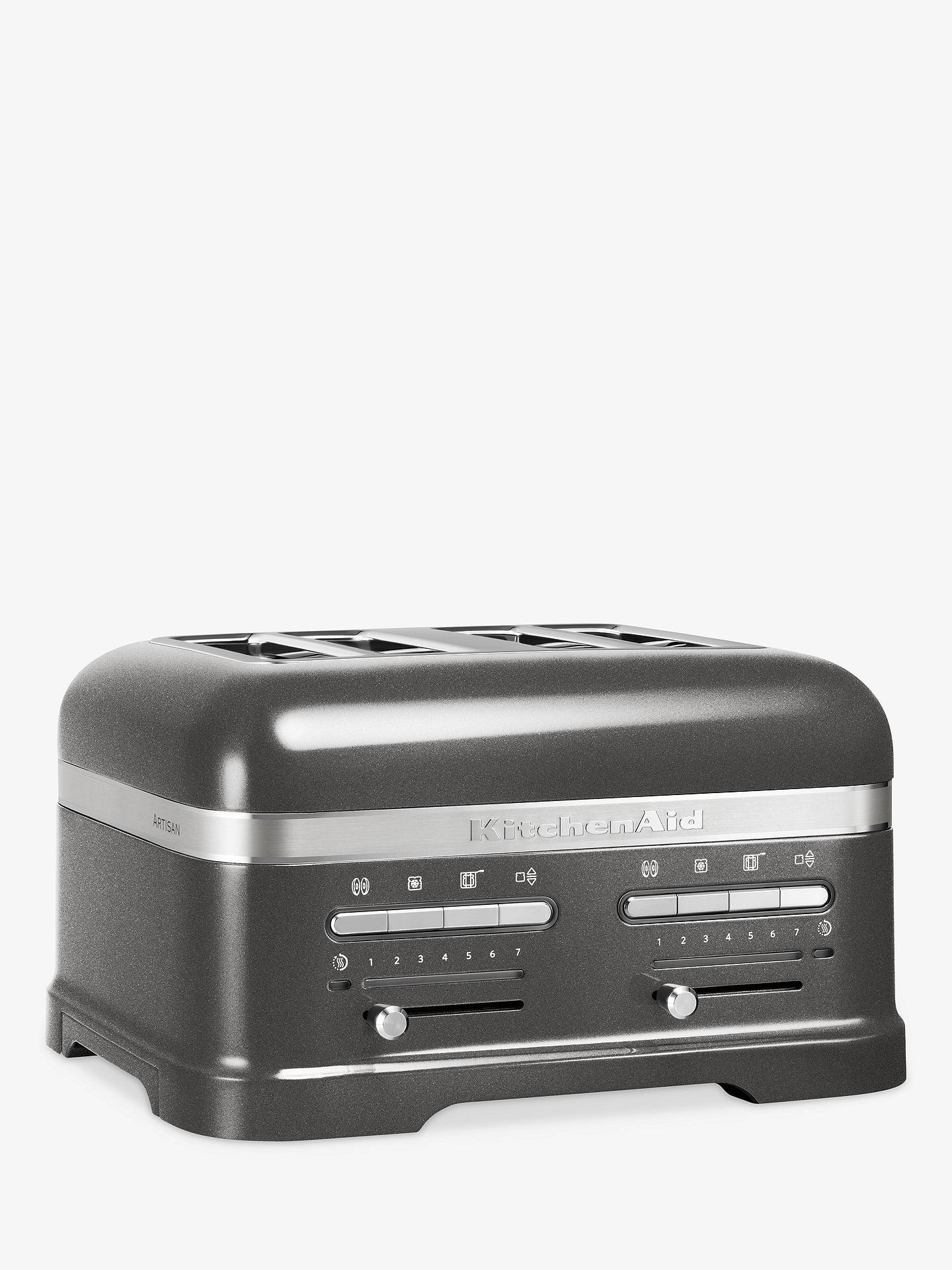 BuyKitchenAid Artisan 4-Slice Toaster, Medallion Silver Online at johnlewis.com