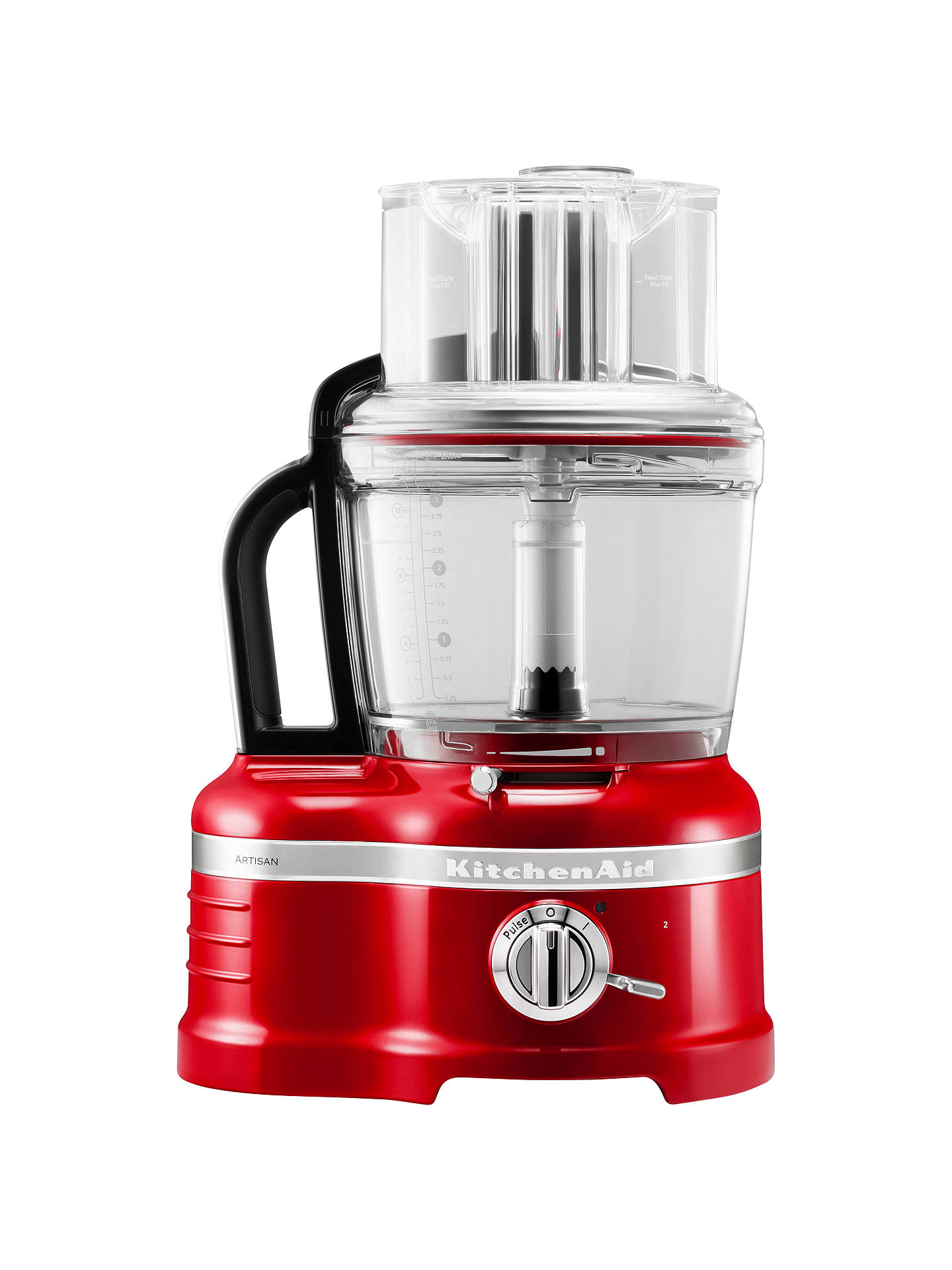 BuyKitchenAid Artisan 4L Food Processor, Empire Red Online at johnlewis.com