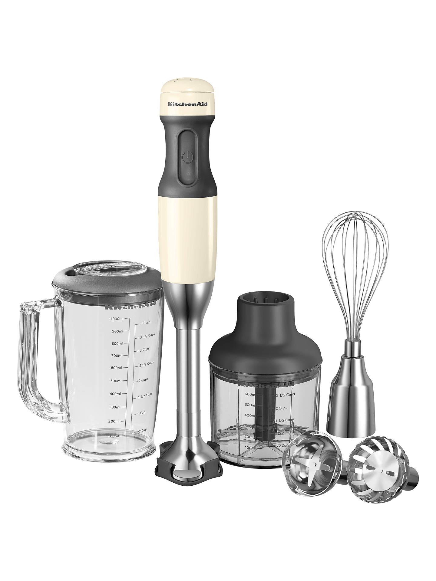 Kitchenaid Hand Blender Almond Cream Online At Johnlewis Com