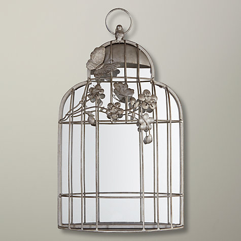 Buy John Lewis Birdcage Mirror, Silver, 45 x 26cm Online at johnlewis.com, stylish moirrors