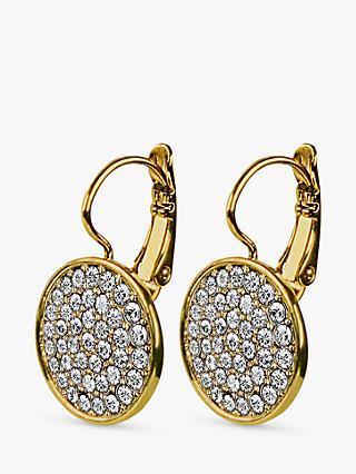Dyrberg Kern Desira Crystal Disc Drop Earrings