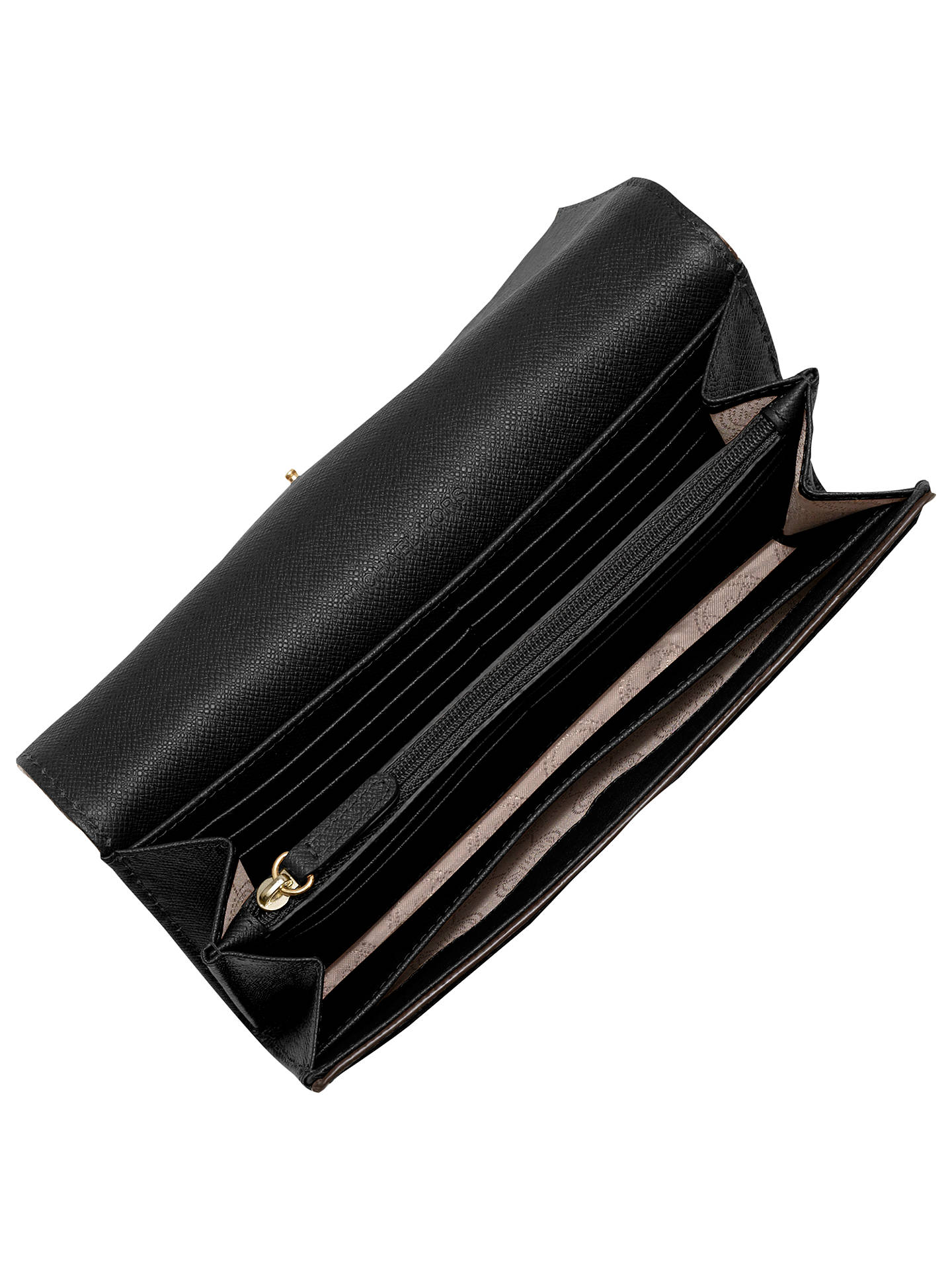 590623a8ef6b ... Buy MICHAEL Michael Kors Fulton Carryall Leather Purse, Black Online at  johnlewis.com