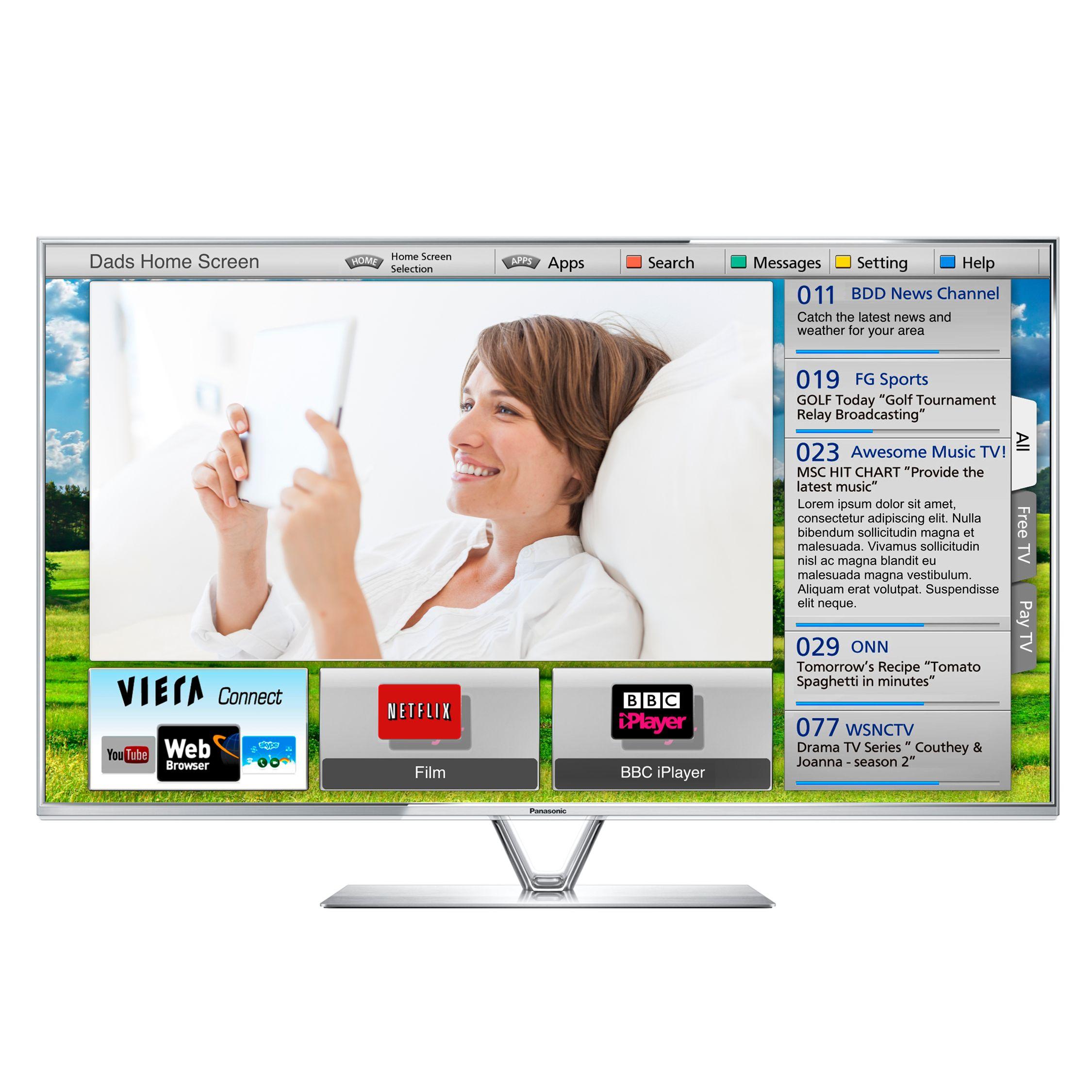 Panasonic Viera TX-L42ET61B LED HD 1080p 3D Smart TV, 42