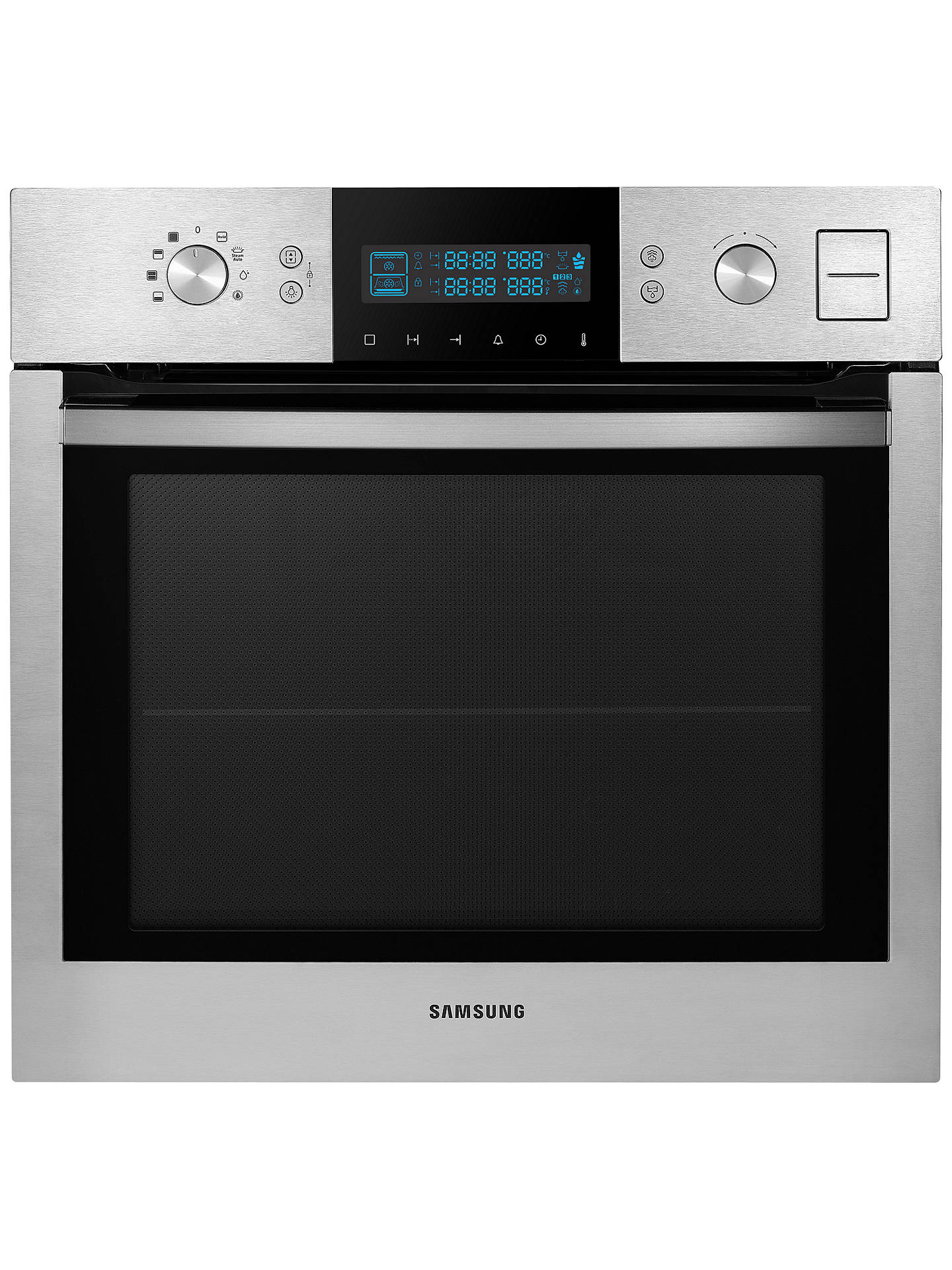 samsung bq1vd6t131 dual cook single electric steam oven stainless steel at john lewis partners. Black Bedroom Furniture Sets. Home Design Ideas