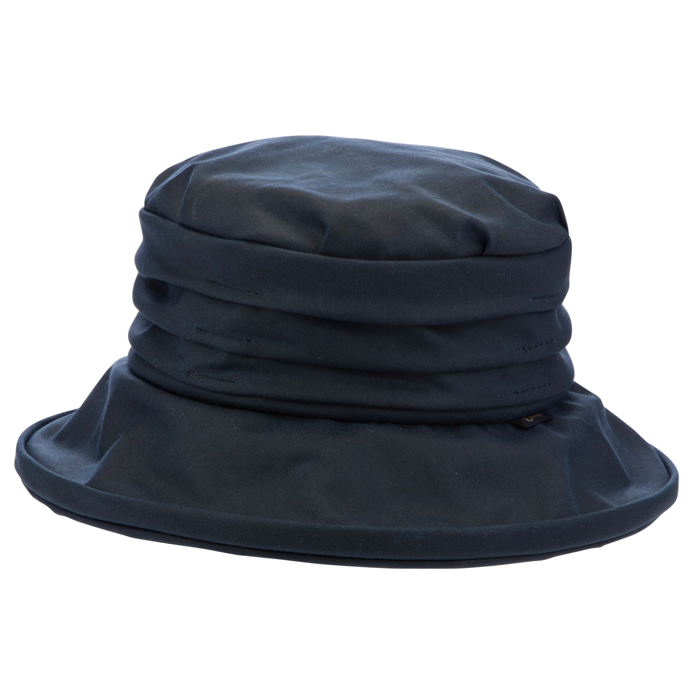 24fa4a2c671 Olney Annabelle Wax Rouched Hat, Navy at John Lewis & Partners
