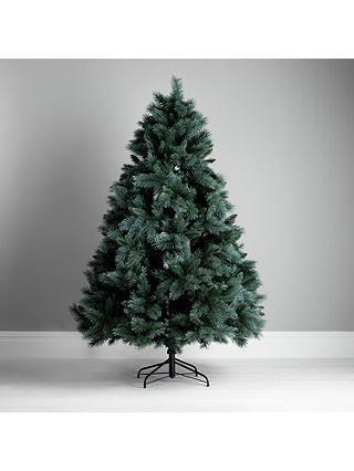 John Lewis Glitter Tip Christmas Tree, Blue Pine, 7ft at John Lewis & Partners