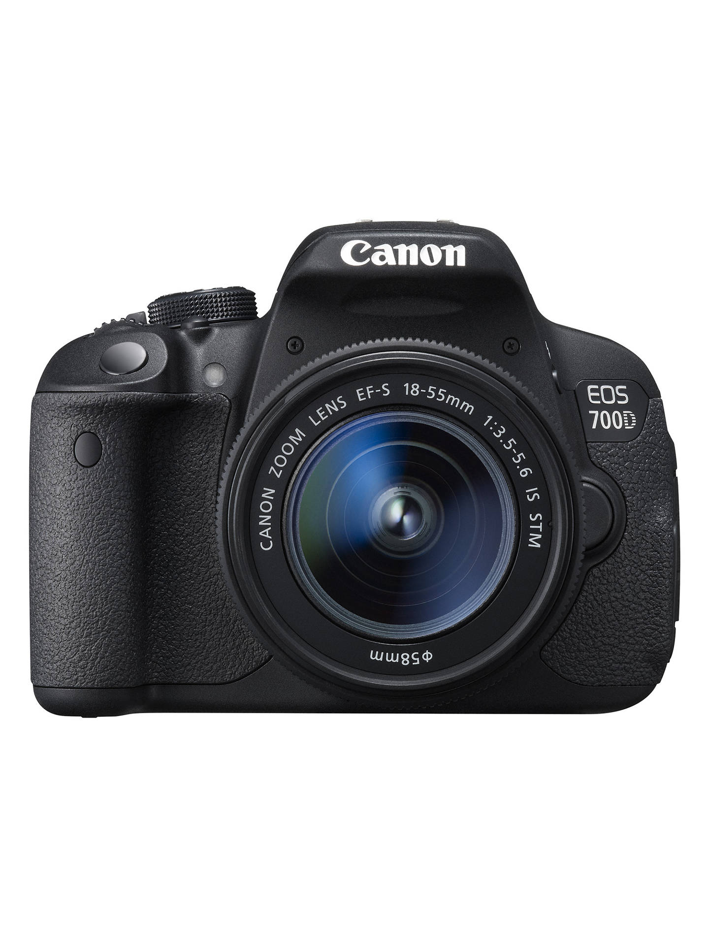 "BuyCanon EOS 700D Digital SLR Camera with 18-55mm STM Lens, HD 1080p, 18MP, 3"" LCD Touch Screen Online at johnlewis.com"