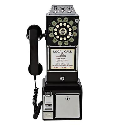 Wild & Wolf 1950s Diner Phone Black