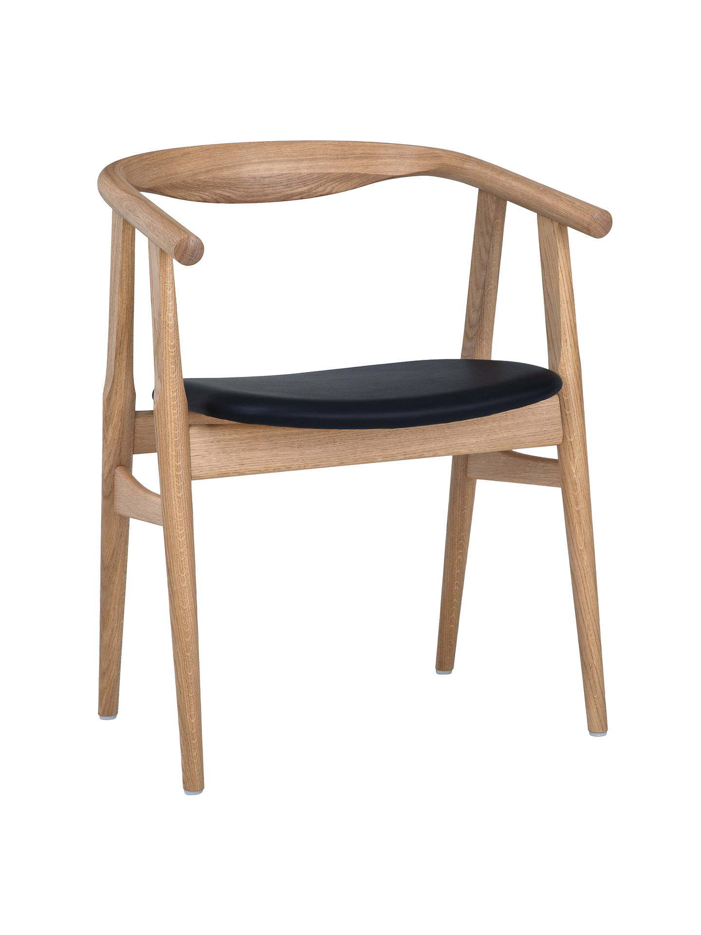 Buyhans j wegner the u 525 chair oak leather online at johnlewis