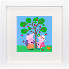 Buy Astley Baker Davies - Peppa Pig Apples Framed Print, 23 x 23cm Online at johnlewis.com
