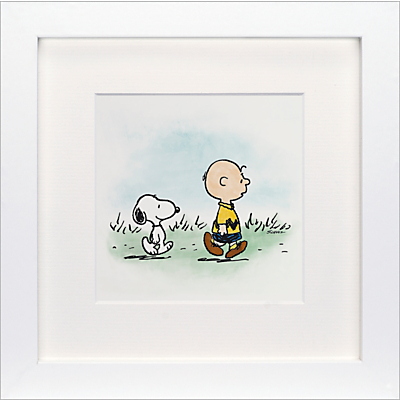 Schulz – Charlie Brown and Snoopy Framed Print, 23 x 23cm