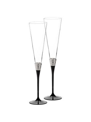 Vera Wang for Wedgwood With Love Flutes, Set of 2, Black