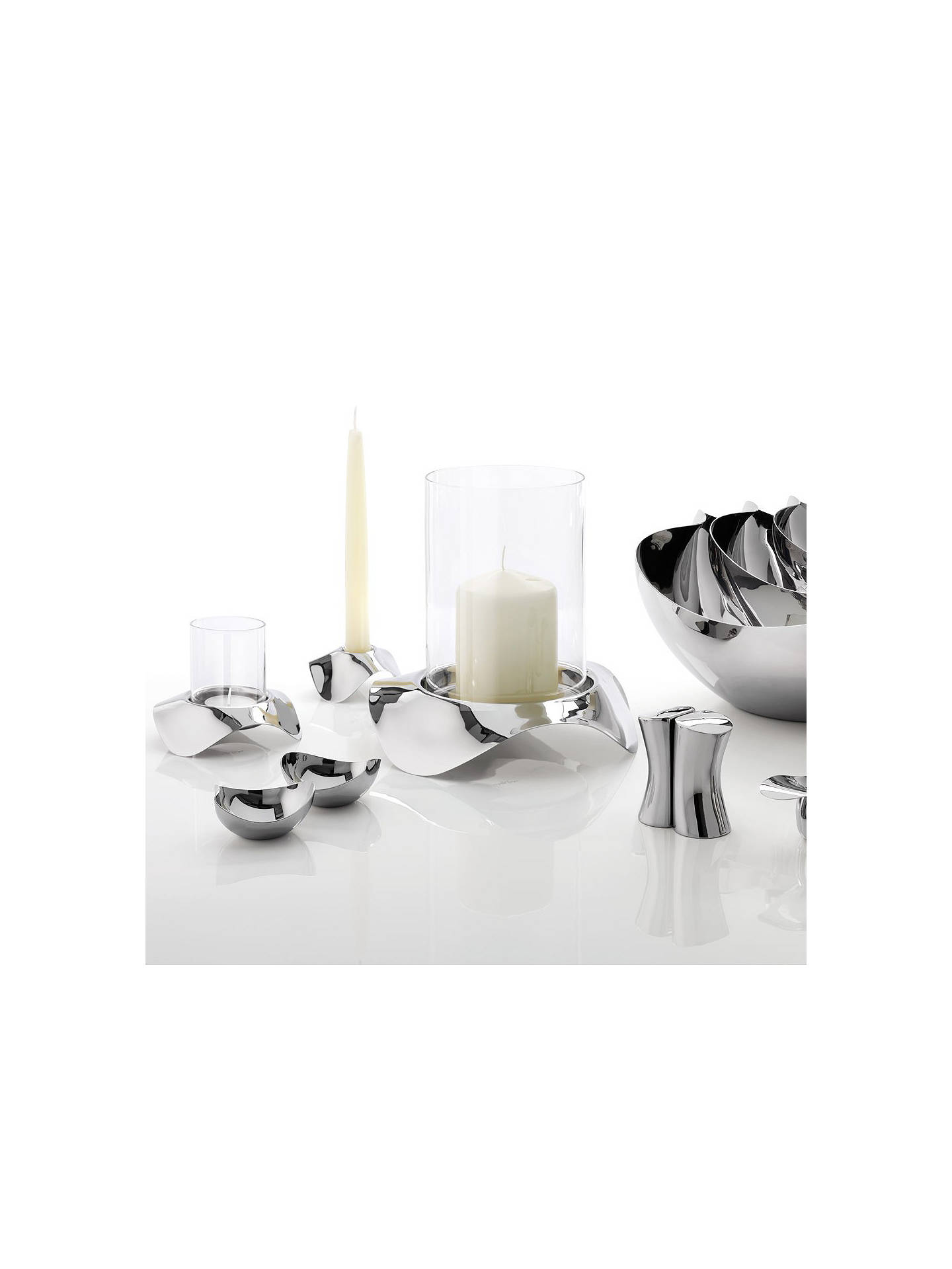 BuyRobert Welch Drift Hurricane Lamp, H23cm, Silver Online at johnlewis.com