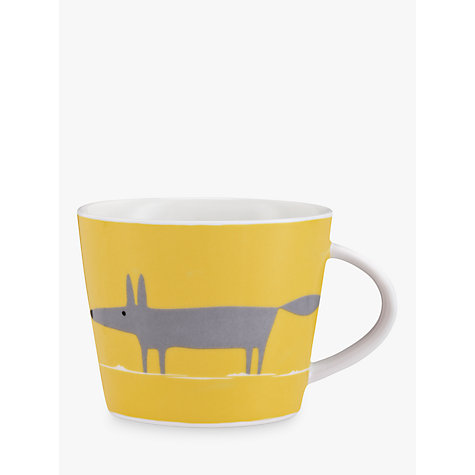 Buy Scion Mr Fox Mug, 0.35L, Charcoal Online at johnlewis.com