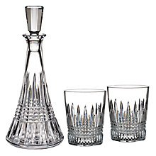 Buy Waterford Lismore Diamond Decanter and Tumblers Set Online at johnlewis.com