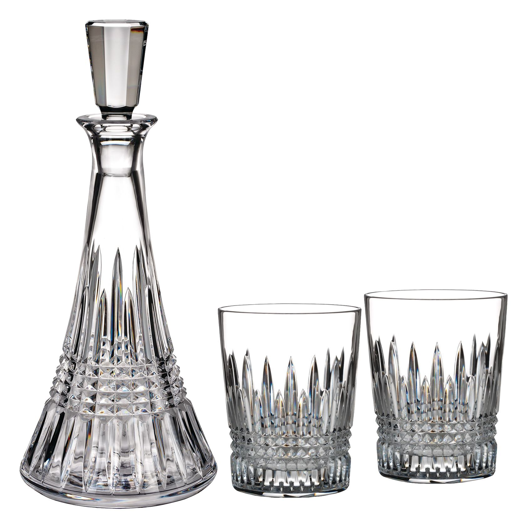 Waterford Waterford Lismore Diamond Cut Lead Crystal Decanter and Tumblers Set
