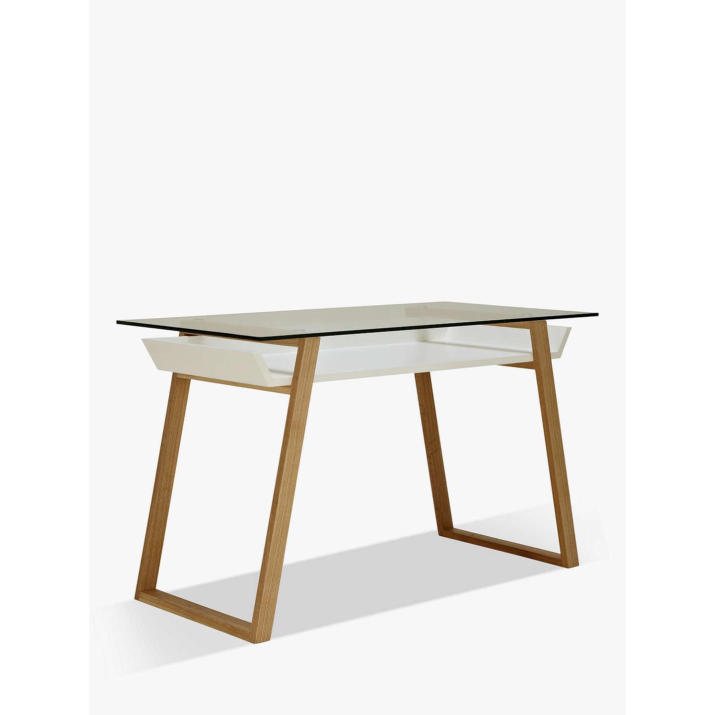 house by john lewis airframe desk white at john lewis. Black Bedroom Furniture Sets. Home Design Ideas
