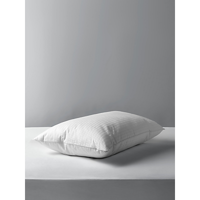 John Lewis Synthetic Collection Breathable Microfibre Standard Pillow, Medium/Firm