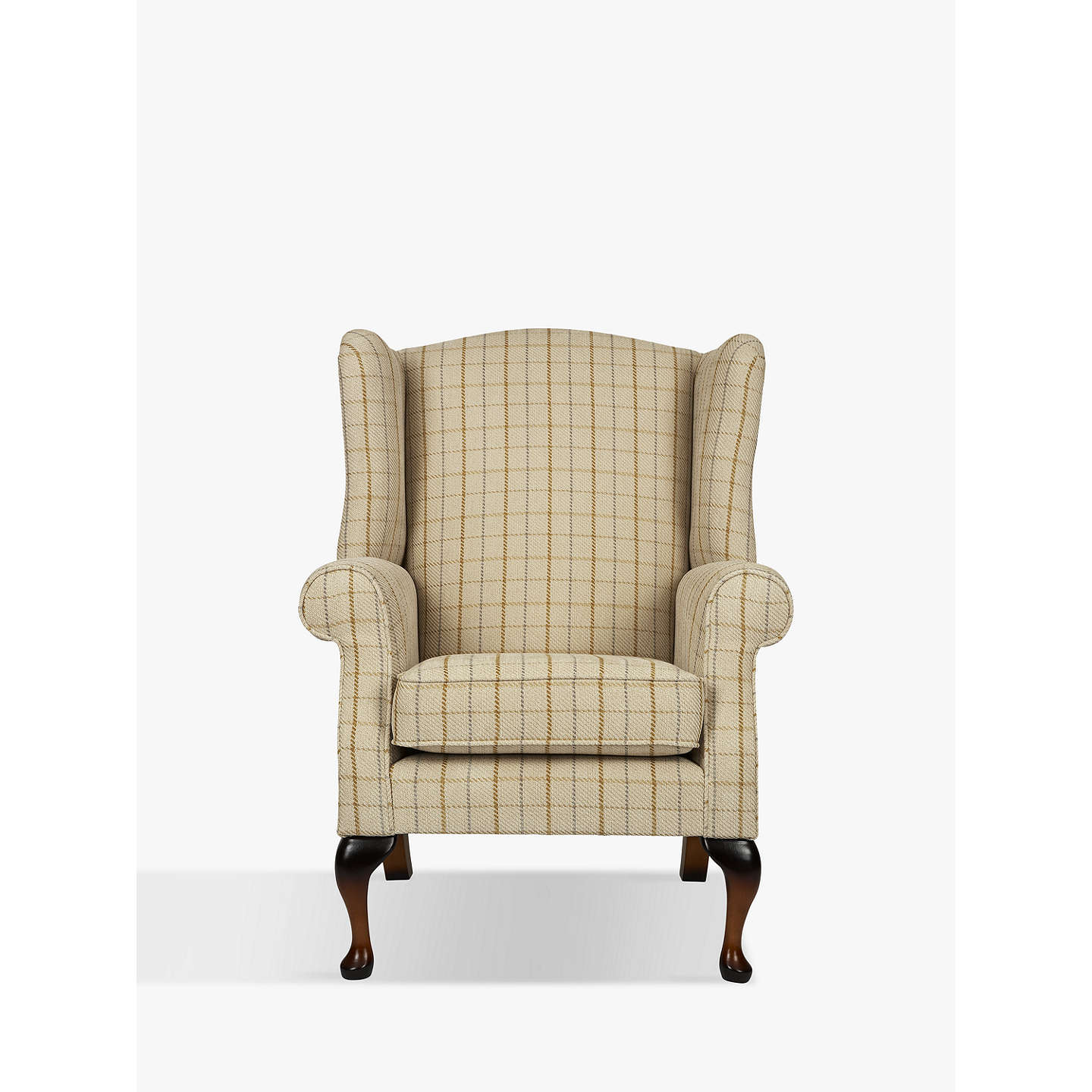BuyParker Knoll Oberon Armchair, Sandringham Check Online At Johnlewis.com  ...