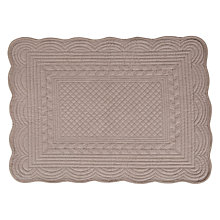 Buy John Lewis Quilted Placemats, Set of 2, Mole Online at johnlewis.com