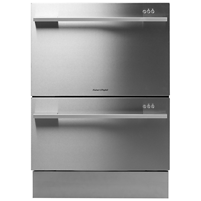 Fisher & Paykel DD60DDFHX7 Built-in Double DishDrawer Dishwasher, Stainless Steel