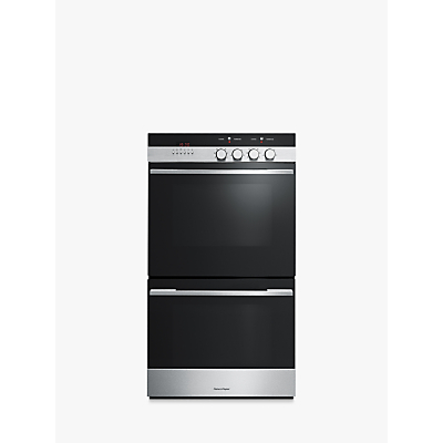 Image of Fisher & Paykel OB60DDEX4 Built-In Double Electric Oven, Brushed Steel