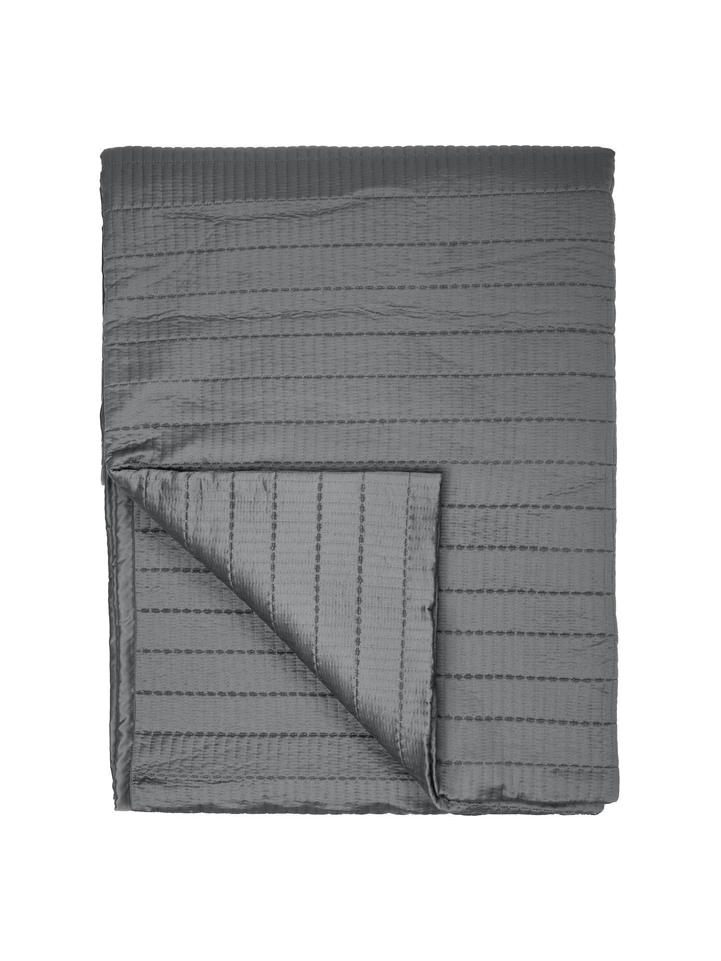 BuyJohn Lewis & Partners Moda Throw, L250 x W260cm, Steel Online at johnlewis.com