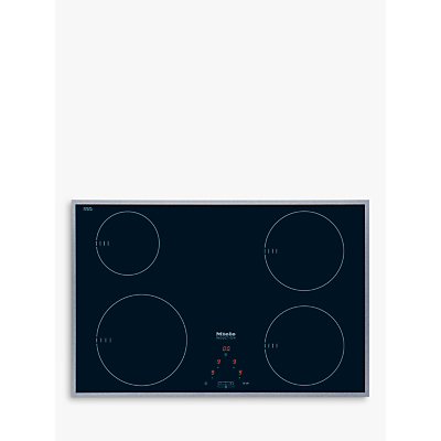 Miele KM6118 Induction Hob, Stainless Steel