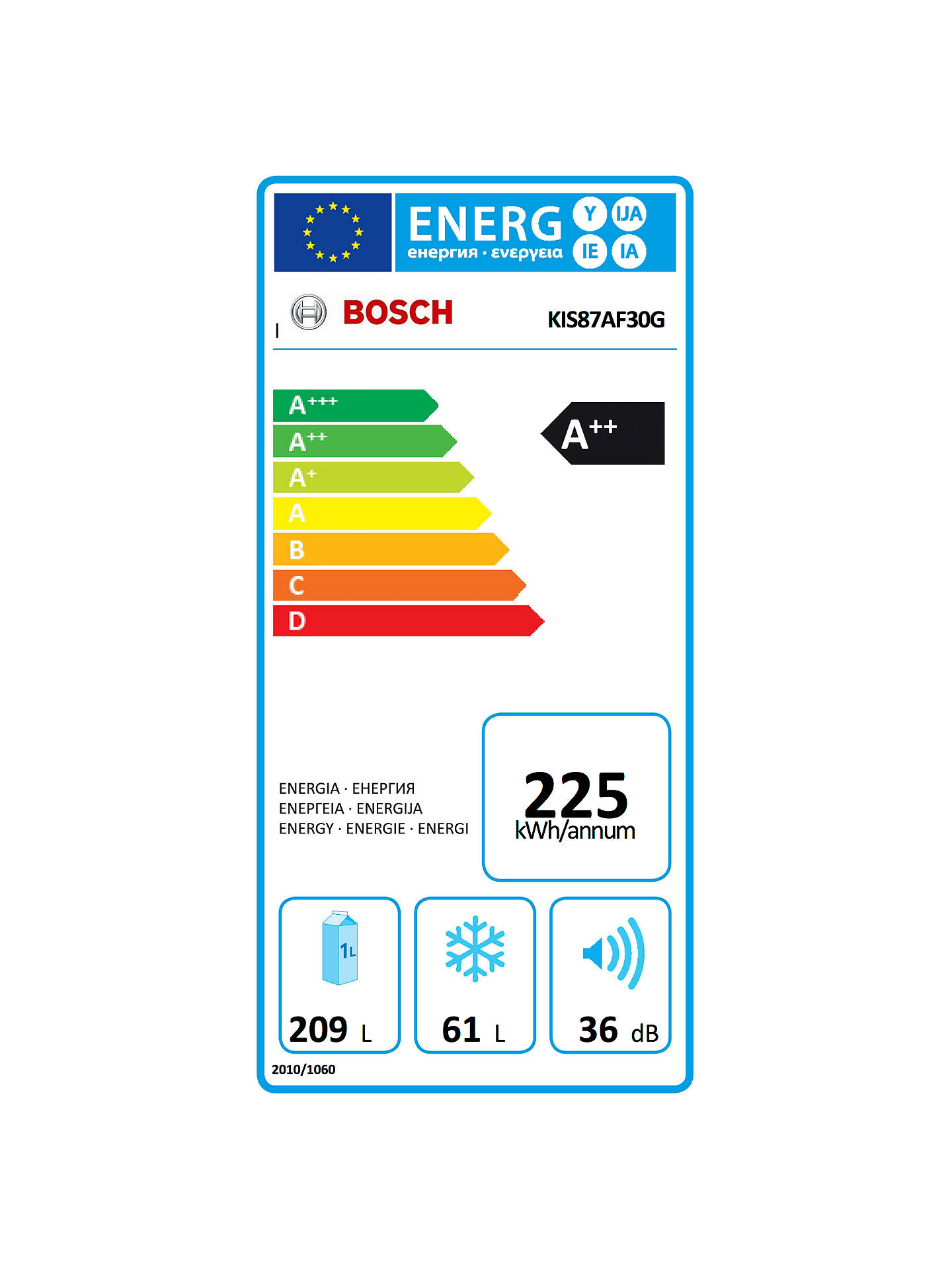 Buy Bosch KIS87AF30G Integrated Fridge Freezer, A++ Energy Rating, 56cm Wide Online at johnlewis.com