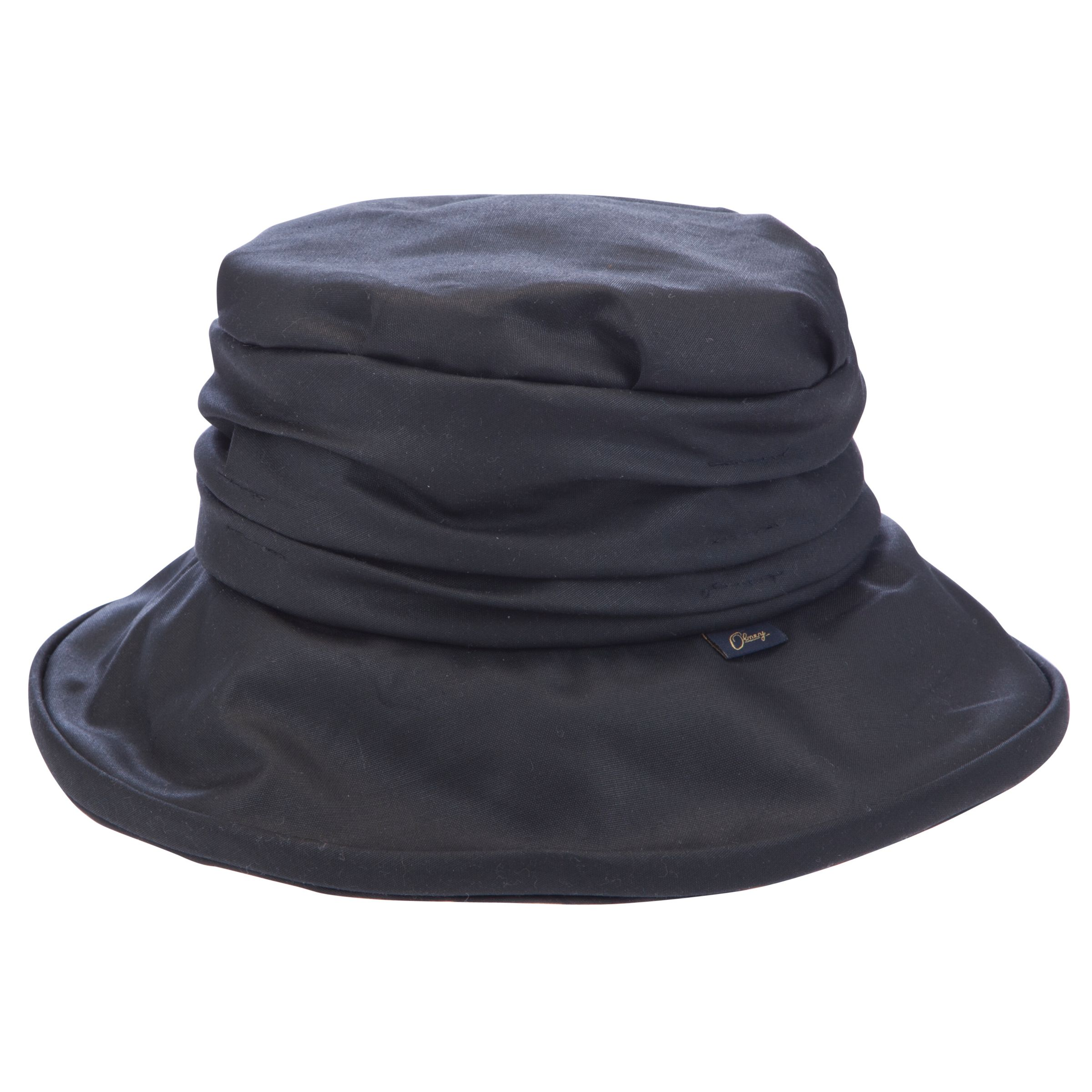 31e5ff40a23 Olney Annabelle Wax Rouched Hat, Black at John Lewis & Partners