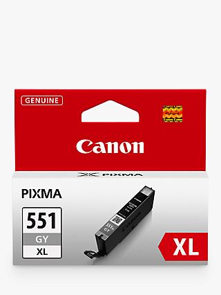 Canon CLI-551XL Inkjet Cartridge, Grey