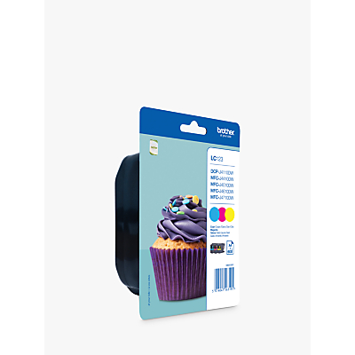 Brother LC123VALBP Inkjet Cartridges, Cyan, Magenta and Yellow Value Pack