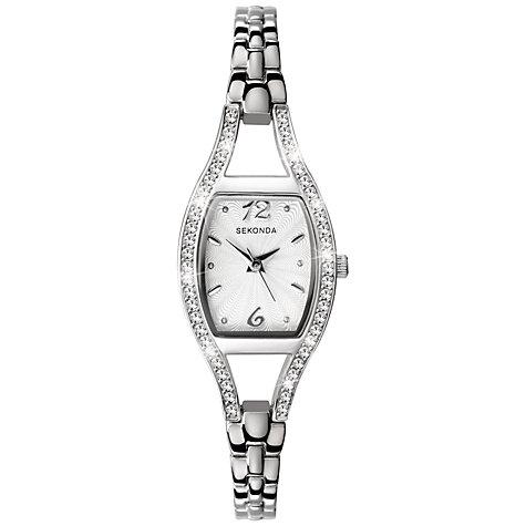 Buy Sekonda 4191 27 Women s Diamante Bezel Stainless Steel