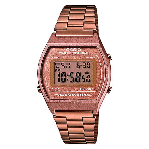 Buy Casio B640WC-5AEF Women's Core Classic Digital Alarm Bracelet Strap Watch, Rose Gold Online at johnlewis.com