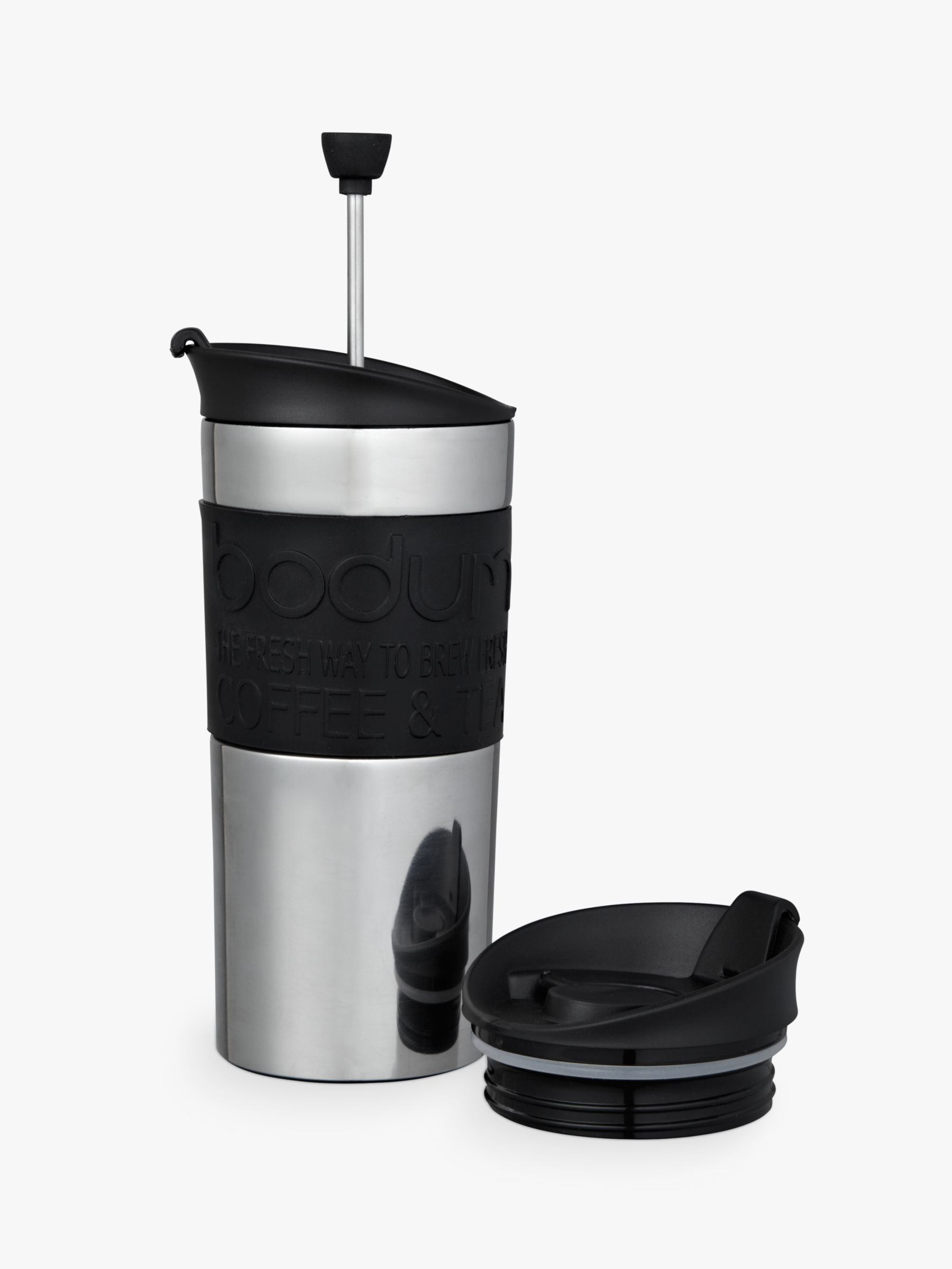 Bobble Presse Coffee Maker : Aladdin Aveo Travel Press Tea and Coffee Flask Black