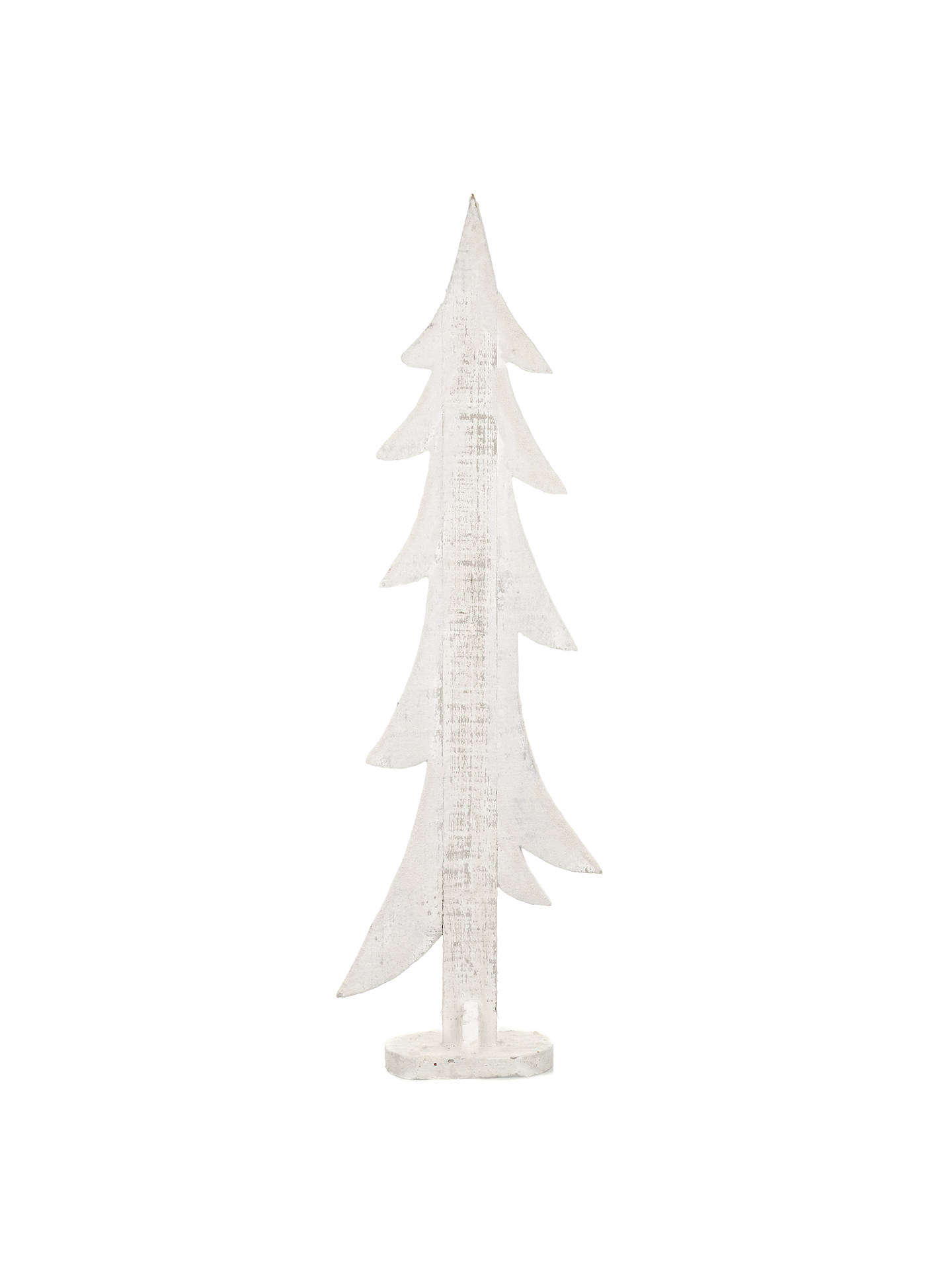 House By John Lewis Wooden Christmas Tree Large White
