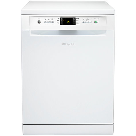 Buy Hotpoint FDEF51110P Signature Freestanding Dishwasher, White Online at johnlewis.com