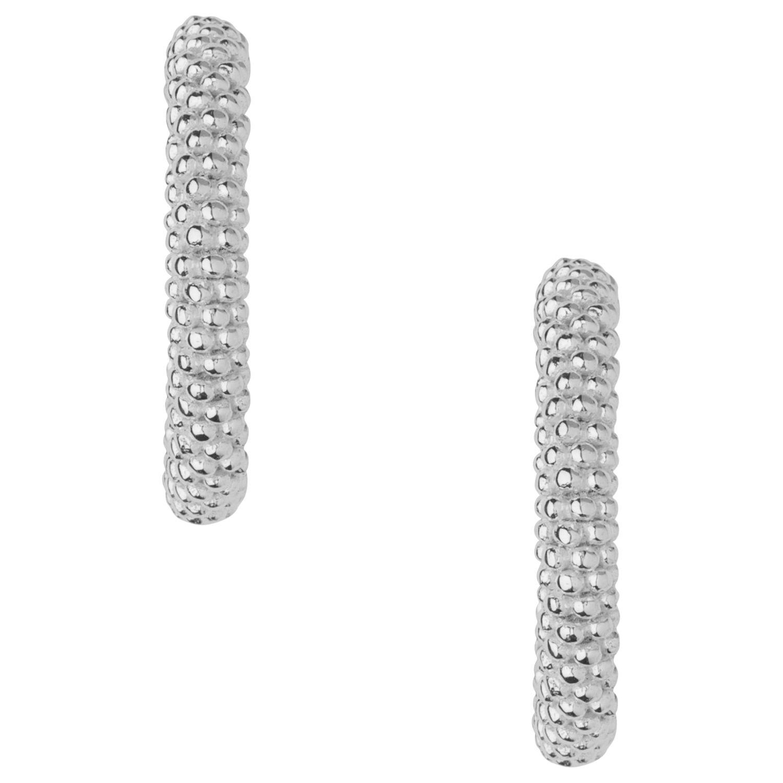 26b7534ec40f86 Links of London Effervescence XS Sterling Silver Hoop Earrings at John  Lewis & Partners